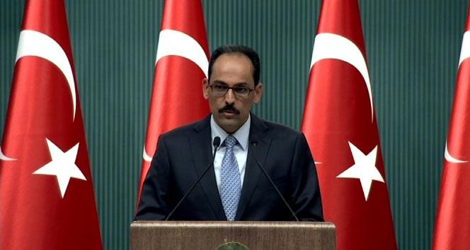 Cumhurbaşkanlığı Sözcüsü İbrahim Kalın'dan Erbil'deki saldırıyla ilgili açıklama