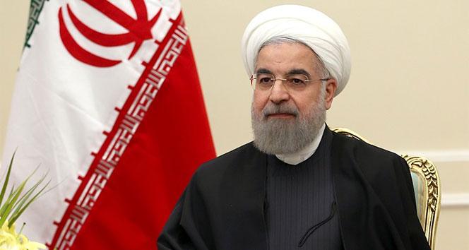 İran Cumhurbaşkanı Ruhani: 'ABD'yi insanlığa karşı suç işlemekten yargılayacağız'