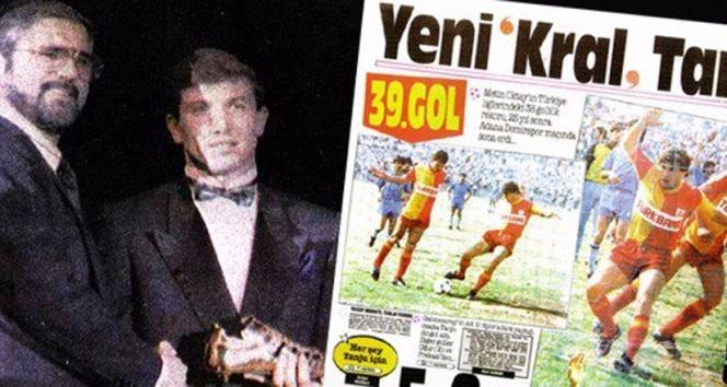 Galatasaray, Tanju Çolak'ın 'Altın Ayakkabı' ödülünü unutmadı