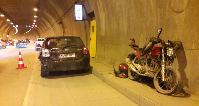 Kağıthane Tüneli'nde kaza: 1 yaralı