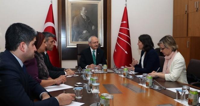 Kılıçdaroğlu, Avrupa Parlementosu Türkiye Raportörü Kati Piri ile görüştü