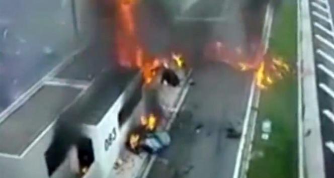 Yunanistan'da korkunç kaza!