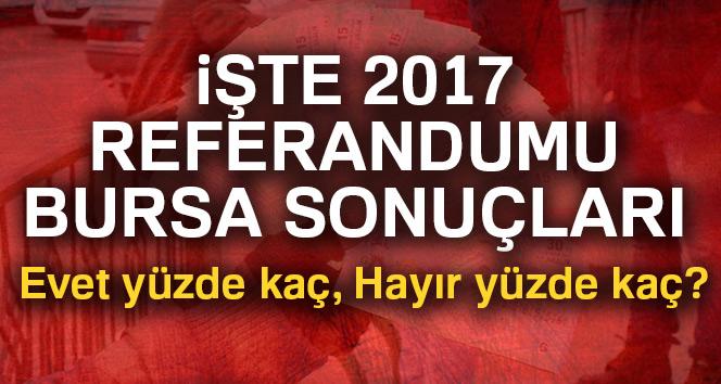 Bursa referandum sonuçları 2017! Bursa oy sonuçları | Evet hayır oranı öğren
