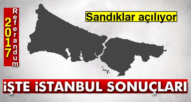 İstanbul referandum sonuçları 2017! İstanbul oy sonuçları   Evet hayır oranı öğren
