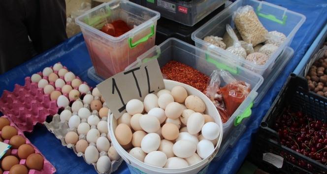 Köy yumurtasının fiyatı pahalı olmasına rağmen ilgi yoğun