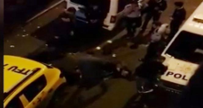 Kasaptan et çalmaya çalışan hırsızları polis vurarak yakaladı