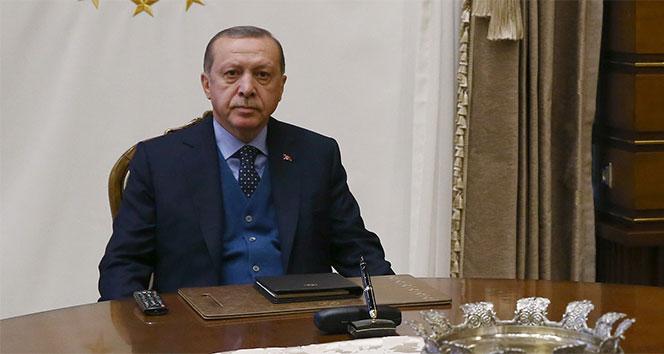 Cumhurbaşkanı Erdoğan'dan güven mektubu kabulü