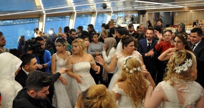 Üsküdar Belediyesinden 9 Roman çifte hayal gibi nikah töreni