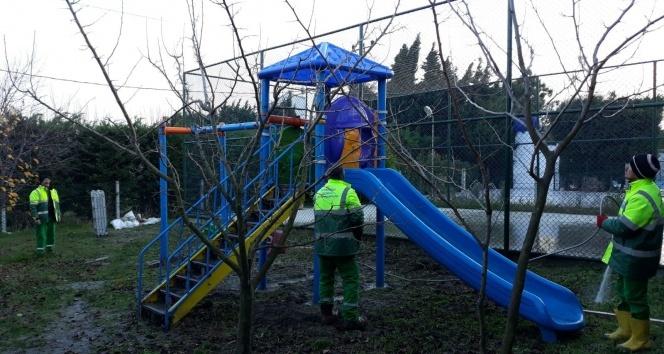 Büyükçekmece'nin park ve bahçelerine bakım