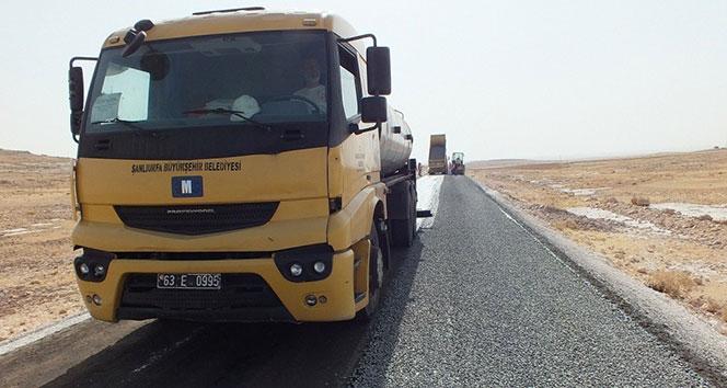 Şanlıurfa kırsalına 1 yılda bin 700 kilometre asfalt serimi yapıldı