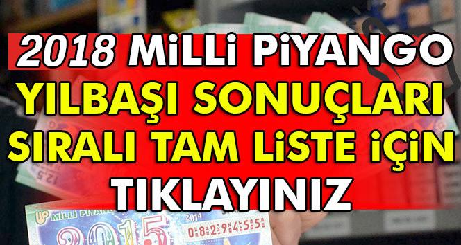 Milli Piyango sıralı tam liste, Milli Piyango Sonuçları 2018! MP Kazandıran Numaralar...