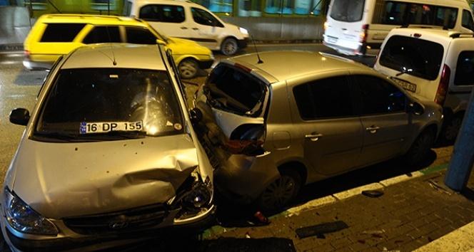 Bursa'da zincirleme kaza kamerada