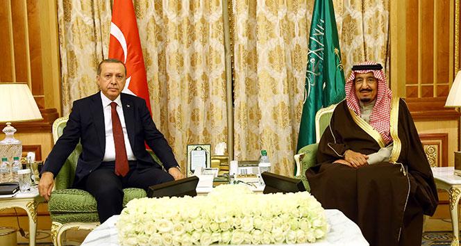 Cumhurbaşkanı Erdoğan, S. Arabistan Kralı Selman ile görüştü