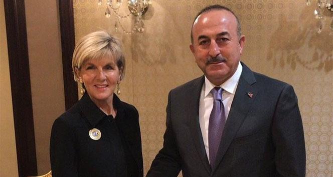 Bakan Çavuşoğlu, Avustralya Dışişleri Bakanı Bishop ile görüştü