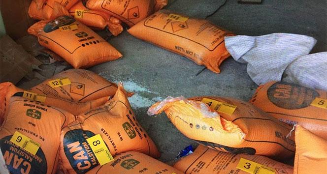 Hakkari'de 950 kilogram amonyum nitrat maddesi ele geçirildi