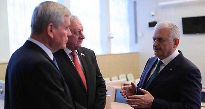 Başbakan Yıldırım, Belarus Cumhuriyet Konseyi Başkanı ile görüştü