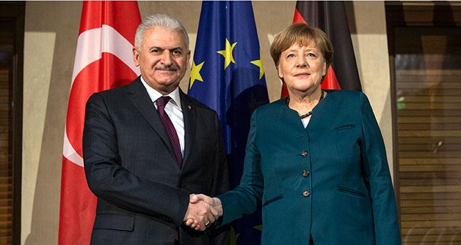 Başbakan Yıldırım, Almanya Başbakanı Merkel ile görüşecek