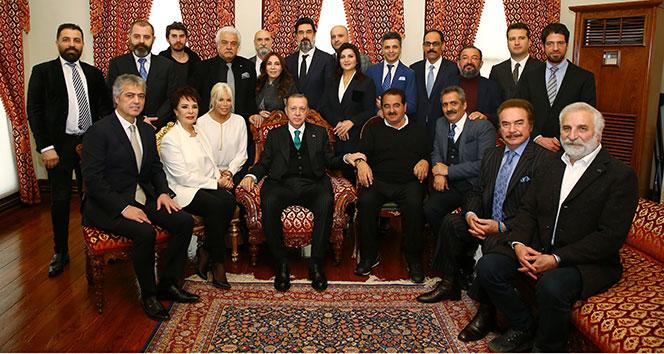 Sanatçılar, Cumhurbaşkanı Erdoğan'ın doğum gününü kutladı