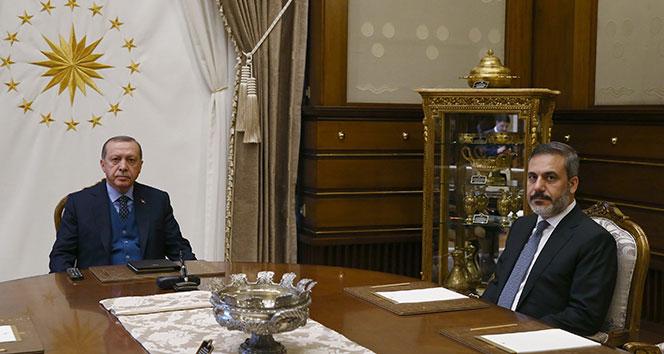 Cumhurbaşkanı Erdoğan, MİT Müsteşarı Fidan'ı kabul etti!