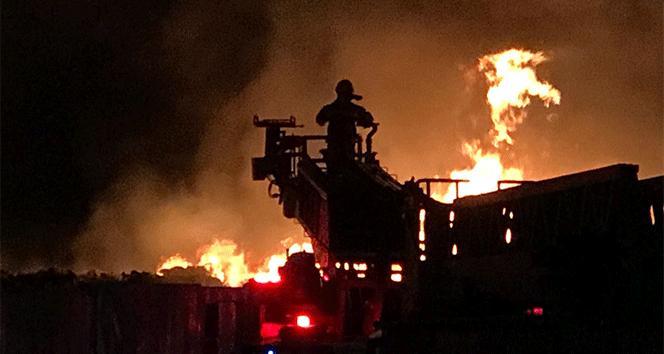 Çanakkale'de sebze halinde büyük yangın