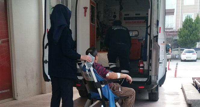Elini halı yıkama makinesine kaptıran işçi yaralandı