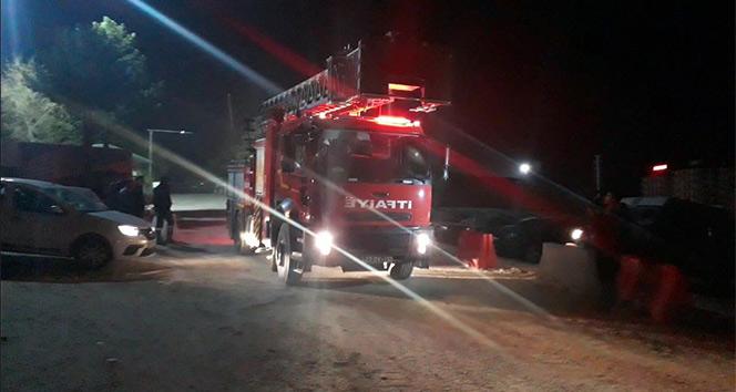 Elazığ'da hastane inşaatında yangın