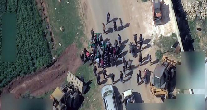 Teröristler, Afrin'i terk etmek isteyen sivilleri engelliyor