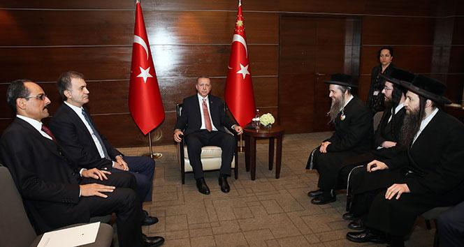 Cumhurbaşkanı Erdoğan, Londra'da Musevi cemaati temsilcilerini kabul etti