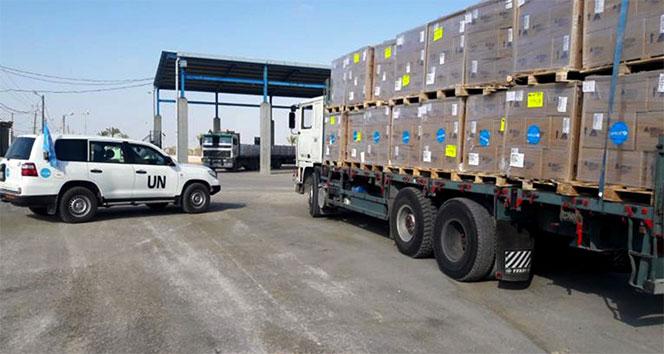 UNICEF'den Gazze'ye 2 kamyon tıbbi malzeme