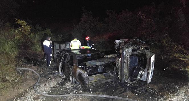 Tunceli'de kaza sonrası iki araç yandı, 4 kişi yaralandı
