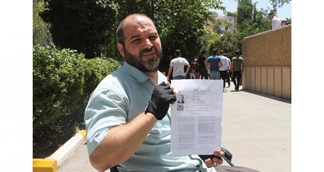 Engelli vatandaştan 'sınava giremedim' iddiası