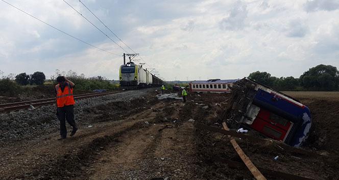 Tren kazasının yaşandığı yerde seferler başladı