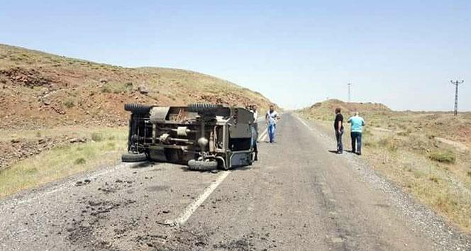 Bulanık'ta askeri araç devrildi: 4 yaralı