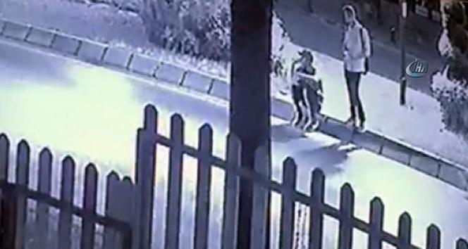 Vicdansız sürücünün çarptığı çocukların inanılmaz kurtuluşu kamerada
