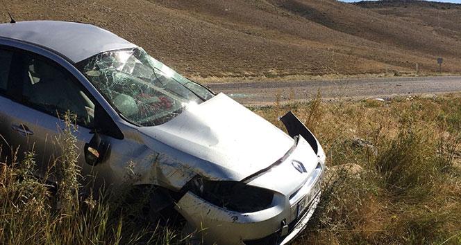 Sivas'ta trafik kazası: 4 yaralı!!