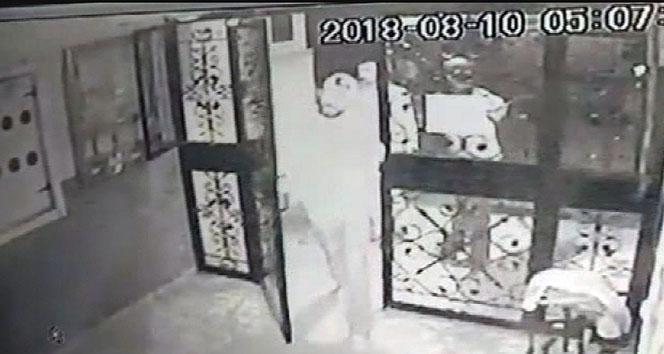 Hırsızlar kameranın yönünü böyle değiştirdi