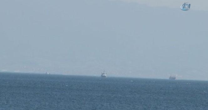 Kartal açıklarında bir teknede yangın çıktı