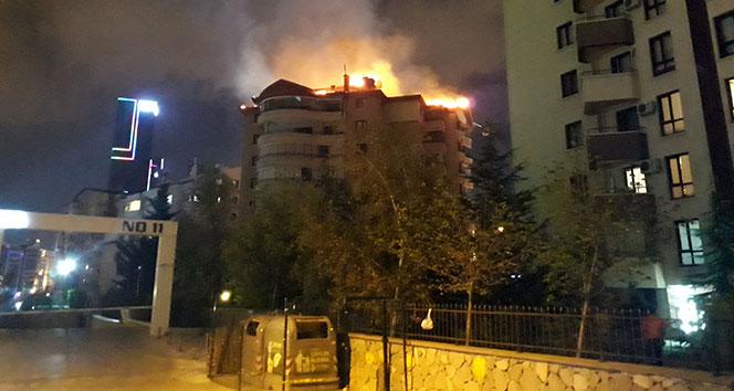 Başkent'te korkutan yangın !