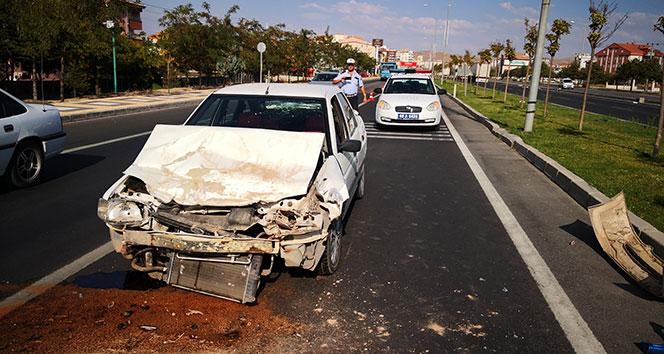 Aksaray'da trafik kazası: 1 yaralı!