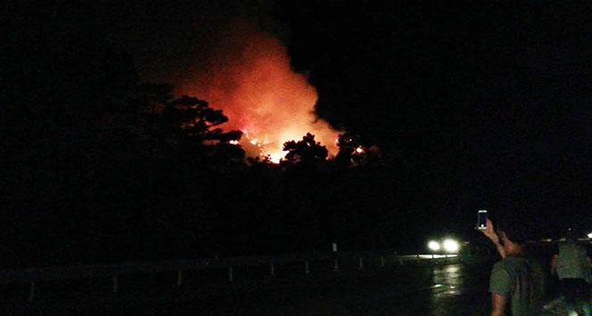 Kemer'de orman yangını...