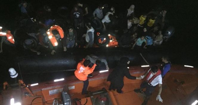 22'si çocuk 46 kaçak göçmen yakalandı