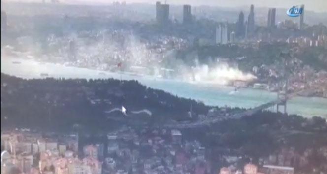 İstanbul Boğazı'nda korkutan yangın!