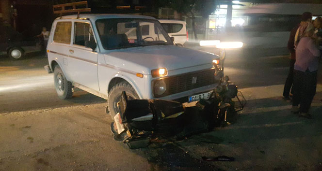 Kozan'da trafik kazası: 1 yaralı!!