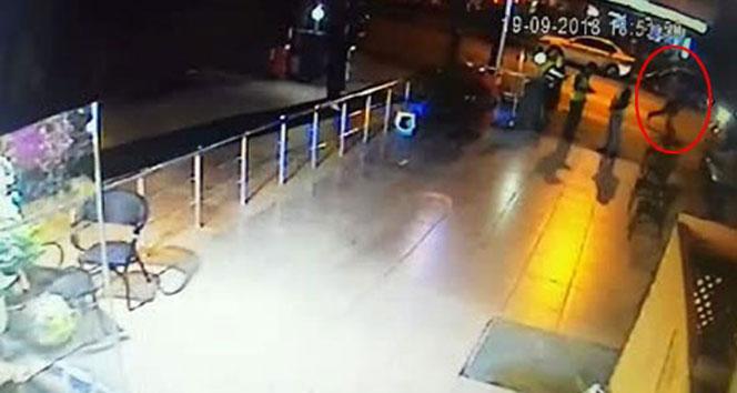 Azeri işadamı öldüren zanlının kaçma anı kamerada