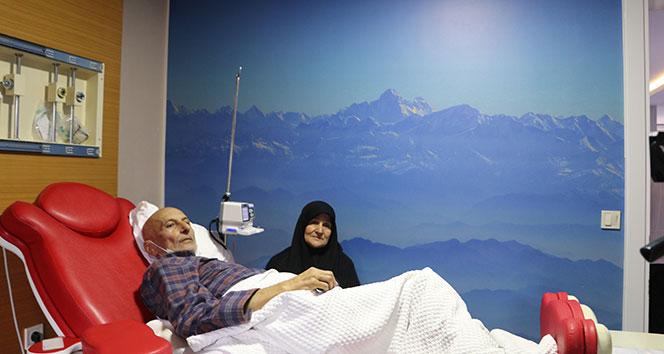 Kemoterapi merkezinde 'sanal gökyüzü'
