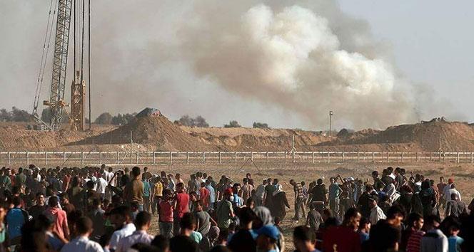 Gazze sınırında 1 kişi şehit oldu, 312 kişi yaralandı