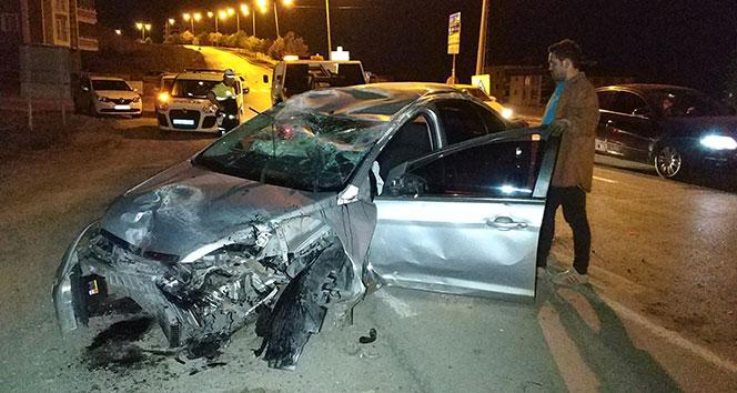 Samsun'da otomobil takla attı: 1 yaralı!