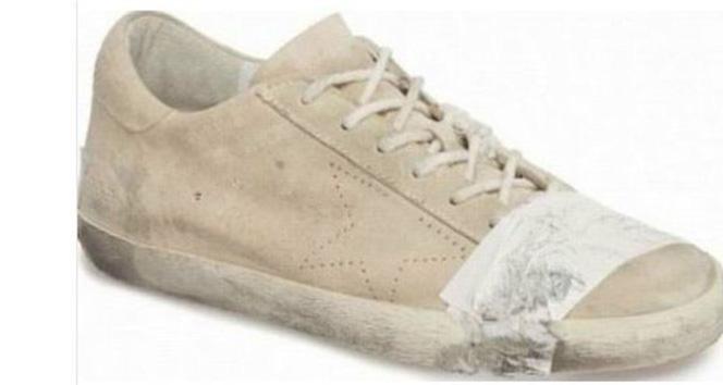 Eskitilmiş ayakkabılar moda oldu ama insanlar tepkili!