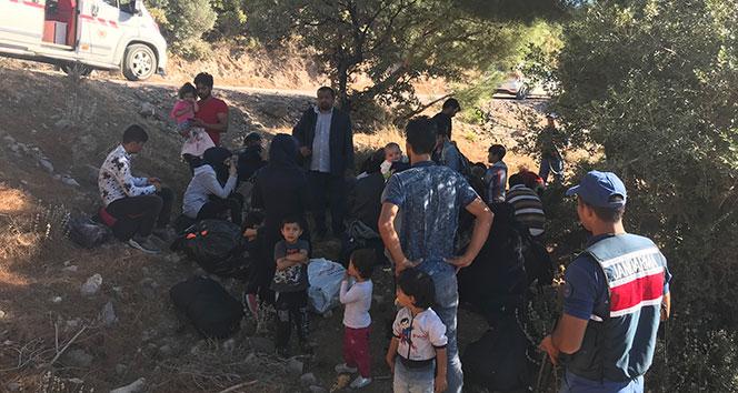 Çanakkale'de 106 kaçak göçmen yakalandı