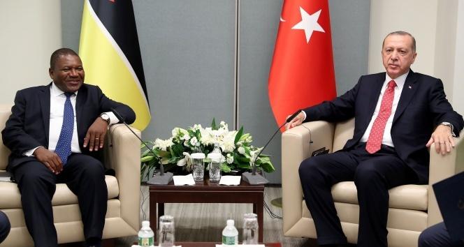 Cumhurbaşkanı Erdoğan, Mozambik Devlet Baskanı Nyusi ile görüştü